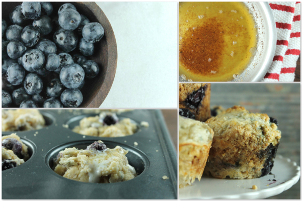 Browned Butter Blueberry Muffins 4