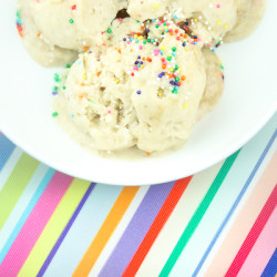 Banana Birthday Cake Ice Cream @ http://www.tinyredkitchen.com